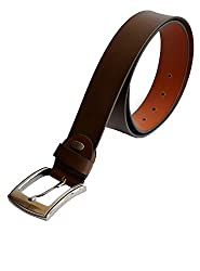 Kara Brown Color Genuine Leather Semi Formal Belt For Men