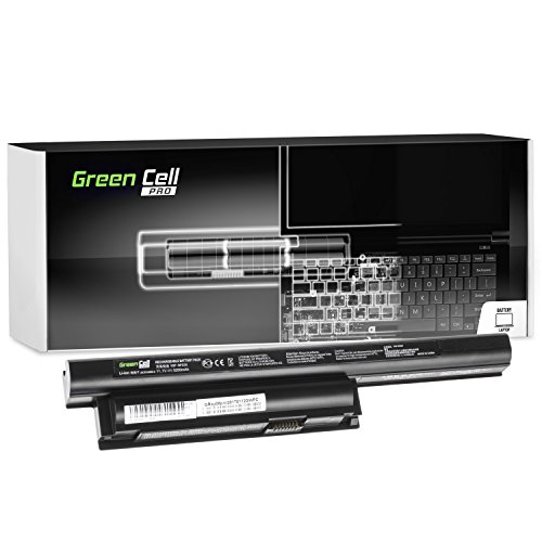 Green Cell® PRO Serie Laptop Akku für Sony Vaio SVE11113FXW (Original Samsung SDI Zellen, 6 Zellen, 5200mAh, Schwarz)