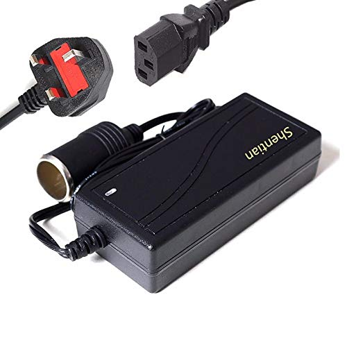 Shentian Alimentation Prise Allume-Cigare AC vers DC Adaptateur 100–240V vers 12V 6A Chargeur de Voiture d'alimentation convertisseur (12V/6A)