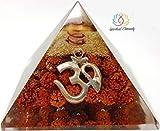 Spiritual Elementz Rudraksha Orgono Pirámide con símbolo OM Piedra Protector de energía...