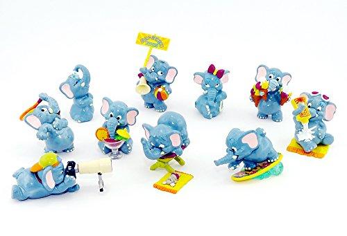 Preisvergleich Produktbild Kinder Überraschung 10 Fanny Fanten im Cluburlaub Figuren (Komplettsätze der Elefanten Figuren)