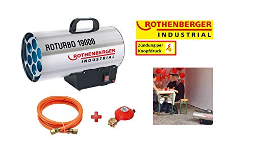 Rothenberger Industrial 1500000051 RoTurbo 19000-Heizkanone-18,2 kW, 18.2 W, 3 Stück