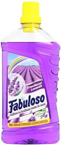 Fabuloso - Detergente per la Pulizia della casa, Profume di Lavanda - 4 pezzi da 1 l [4 l]