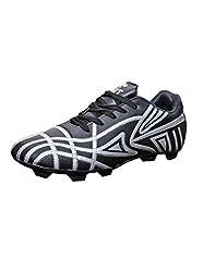 Port Spider Black Football Shoes (size 10 ind/uk)