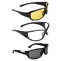 Zyaden COMBO of Night Vision Sunglasses - Combo - 1385