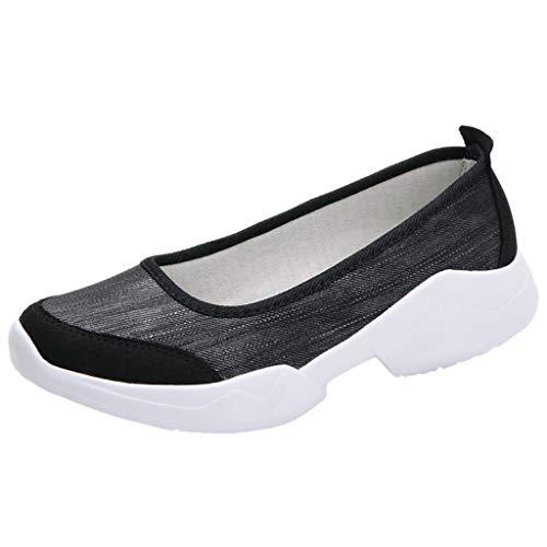 BaZhaHei Sneakers Donna Tela,Moda Leggere Respirabile Scarpe Zeppe Sportive Donne Scarpe da Corsa Casual Scarpe da Lavoro Running Fitness Shoes con Sportive All'aperto 35-42