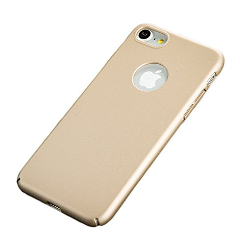 iPhone Coque, Ultraslim Case Bumper Back Cover Housse de Protection Shell, Anti-Rayures et Anti-Choc Or(Surface Mate)