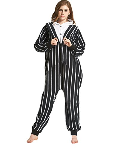 Mena Uk Unisex Adult Skeleton Pyjama erwachsenen Cosplay Kostüm Skelett Pyjamas Onesie Adult Pyjamas Anime Cartoon Party Halloween Nachtwäsche S M L XL ( Farbe : Schwarz , größe : (Cartoon Kostüme Adult)