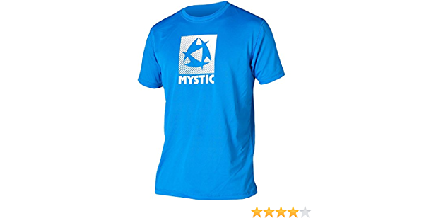 Mystic 2016 Star Loosefit Quickdry S//S Rash Vest Blue 150485
