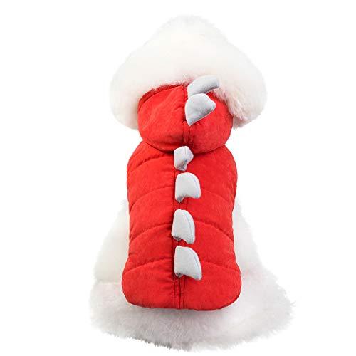 Halloween Kostüm Nobbies - Funny Halloween Hunde Dinosaurier Kostüm Jacke Mantel Warm Winter Hund Kleidung Hoodie by Dragon868 (L, Red)