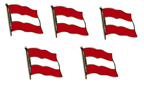 Yantec Flaggenpin 5er Pack Österreich Pin Anstecknadel Fahnenpin
