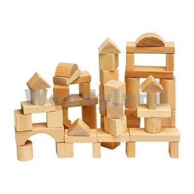 Woodyland Toddler bloques de madera (50 piezas Natural