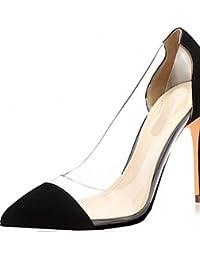 ZQ Zapatos de mujer-Tac¨®n Robusto-Tacones / Pump B¨¢sico / Punta Cuadrada-Tacones-Oficina y Trabajo / Vestido / Casual-Materiales , red-us6.5-7 / eu37 / uk4.5-5 / cn37 , red-us6.5-7 / eu37 / uk4.5-5