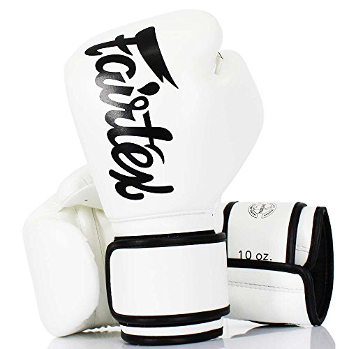 Fairtex Boxhandschuhe, BGV-14, Micro Fiber, weiß, Boxing Gloves MMA Muay Thai Size 12 Oz Fairtex Boxhandschuhe Schwarz