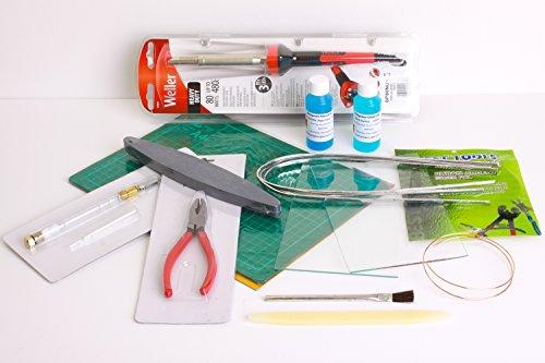 Vetro colorato lamina di rame Kit Completo di attrezzi e
