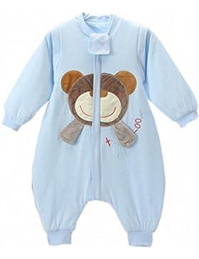 Baby Schläfsack winter mit Füßen kinder schlafanzug Baumwollen Junge Mädchen Lange Ärmel pyjama/overall/Strampler.Schneeanzüge.Bär.