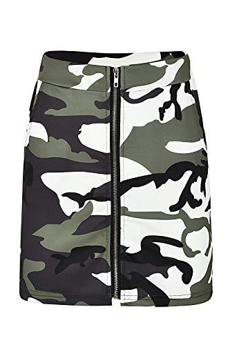 Damen Sommerrock Elegante Sommer Vintage Mädchen Mode Rock Strand Casual Röcke Camo Mini Röcke Hoch Taillierte Kurzen Rock Camouflage Streetwear (Color : Armee-Grün, Size : M) -