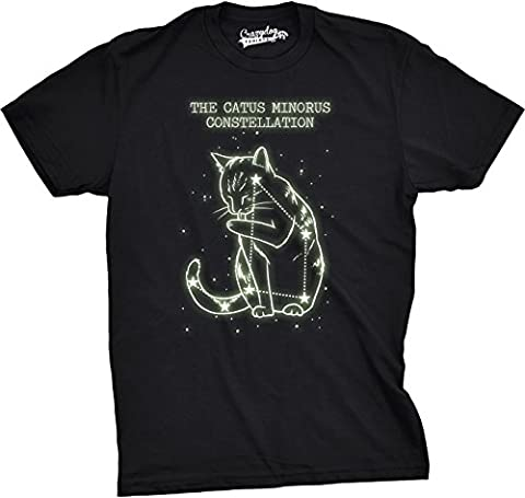 Crazy Dog TShirts - Youth The Catus Minorus Constellation Glow In The Dark T Shirt Funny Cats Tee -L - Enfant