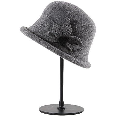 Donne inverno cappello caldo,nuovo intimo Lana Feltro Hat tendenza moda per l'autunno/inverno British jazz Hat, calda, high-grade, bella