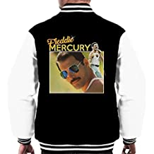 Freddie Mercury Retro Style Background Men's Varsity Jacket