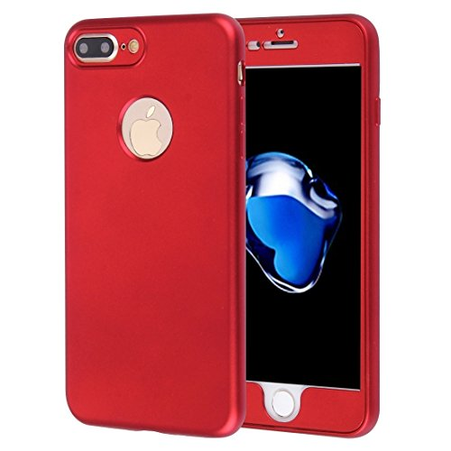YAN Für iPhone 7 Plus 360 Grad Vollschutz Soft TPU Rückseitige Abdeckung + PC Front Combination Case ( Color : Dark blue ) Red