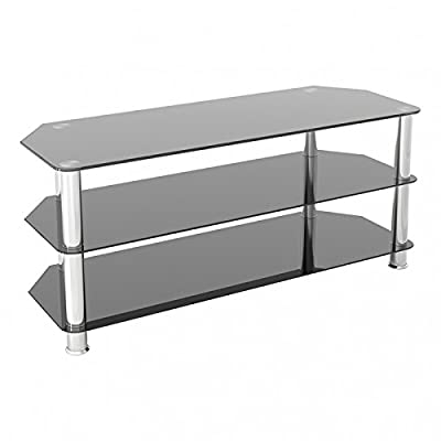 """King Glass TV Stand for HD LED LCD 4K 8K QLED TVs up to 65"""" inch by TV Furniture Direct"""