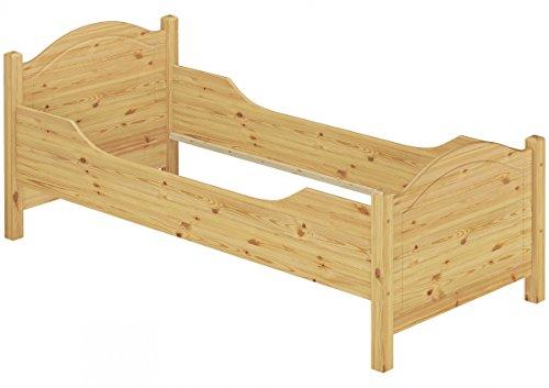 Erst-Holz® Seniorenbett extra hoch 120×200 Massivholz Kiefer Holzbett Einzelbett Gästebett 60.40-12 oR