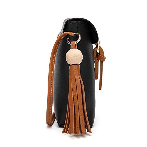 Mefly Unica Borsa A Tracolla Borsa Casual Fashion Telefono Mobile Borsa Singola Semplice Borsa A Tracolla Marrone black