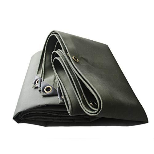 Espesar la Lona de Lona Impermeable, Poncho Resistente al Desgaste de Lona de protección Solar, toldo de Sombra de Lluvia de Carro de Coche (Color : Green, tamaño : 5 * 7M)