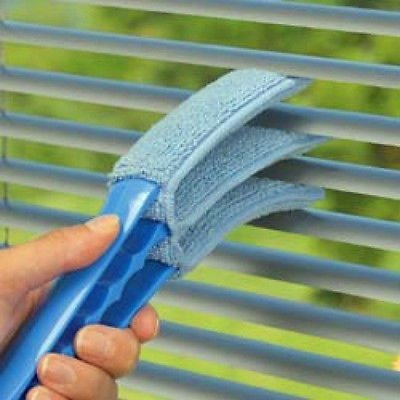 NEW Venetian Blind Dust Cleaner Slats Triple Micro Fibre Microfibre Brushes Duster by OnlineDiscountStore