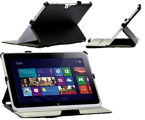 Navitech -Housse/Etui à rabat en cuir bycast noir avec Multi Stand pour le Acer Iconia W510 W5 Windows RT