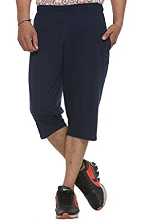 VIMAL JONNEY Men's Cotton Blended Shorts (Blue, Medium Size)