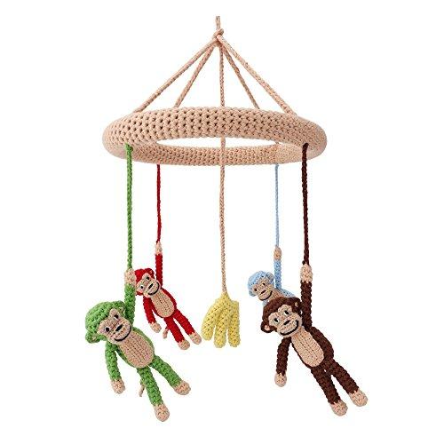 Sindibaba sindibaba12302Kinderbett Mobile mit Affen und Bananen Puppe