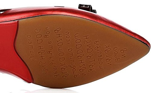 Casual Jelly Women OL pompe cuoio puntato Peep Toe Vintage Hollow respirabile Outsoles antisdrucciolevoli Scarpe casuali UE Size 34-40 Red