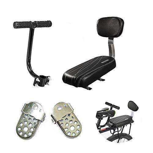 AUVSTAR Kinder Sicherheits Fahrrad Rücksitz Zubehörsatz, Hinteres Sitzkissen Armlehne Fußstütze Set für Mädchen / Jungen / Kinder