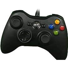 Pudincoco Wired Controller Bluetooth Gamepad para Microsoft Xbox 360 Joystick PC Videojuegos para PC para Xbox 360 (Color: Negro)
