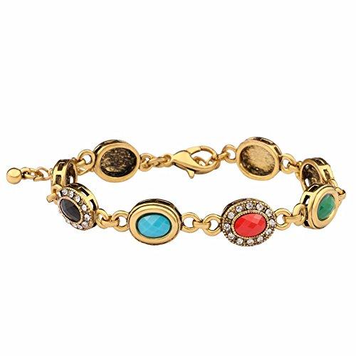 JZHJJ Schlichtes und stilvolles, klassisches Paar-Armband mit rundem Diamantschmuck, Vintage-Armband, tolles Geschenk, inklusive Armband, Armbänder, Damen, Armband, Herren