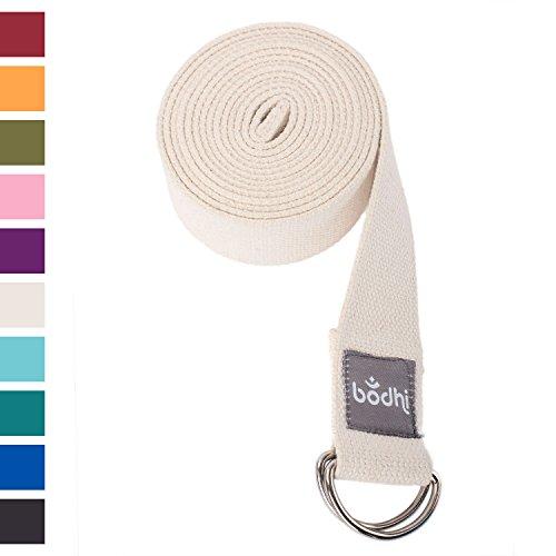 Yogagurt ASANA BELT mit Metallverschluss, abgerundeter Schiebeverschluss, Yoga Gurt aus Baumwolle, praktisches Yogazubehör, Basic Hilfsmittel nicht nur für Anfänger (natur/beige)