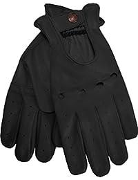 Herren Driving Autofahrer-Handschuhe Lederhandschuhe Schwarz, Grün, Braun, Gelb, Grau, Orange 9x Fraben