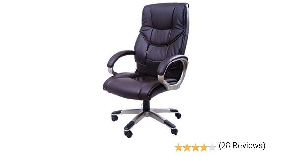 Homcom chaise bureau luxe pivotant fauteuil ordinateur manager