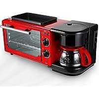 LJ-MBJ Desayuno Tostadoras, Casa Automático Desayuno máquina, Multifuncional Hornear Café Horno Lavable