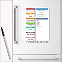 The Magnet Shop A4 Multicolour Weekly Magnetic Meal Planner/Memo Board for Home and Office