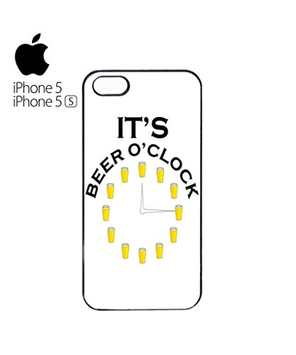 It's Beer O'clock Pub Mobile Cell Phone Case Cover iPhone 5c Black Blanc