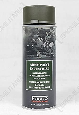 400ml Military Style SPRAY PAINT (Army Spray Paint - US Olive Drab)
