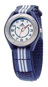 Adidas Kids - ADM2661 - Montre Enfant - Quartz Analogique - Bracelet Tissu Bleu Bandes Blanches - Fermeture Scratch