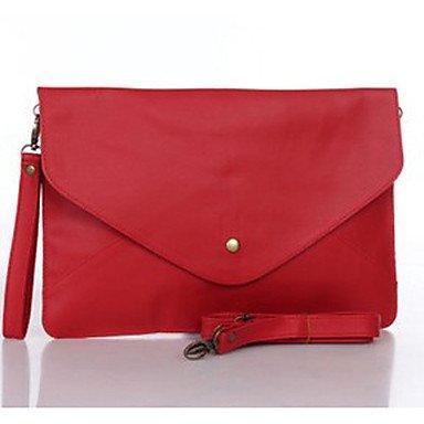 WZW Damen PU Alltag Abendtasche Rosa / Blau / Grün / Gelb / Braun / Rot / Schwarz . dark red