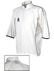 CA Micro Mesh Plus Cricket Shirt - White/Burgundy