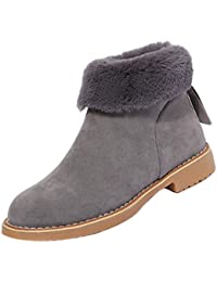 Stiefel Damen Kolylong® Frauen Elegant Plüsch Schneestiefel Flach Herbst  Winter Warme Stiefel Kurz Dicker Stiefeletten 87c8e15f58