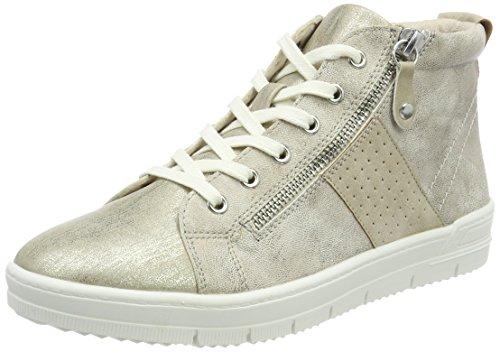 Tamaris Damen 25203 Hohe Sneaker, Beige, 38 EU