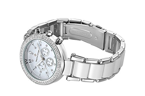 Timothy Stone Women's DÉSIRE Silver-Tone and White Watch